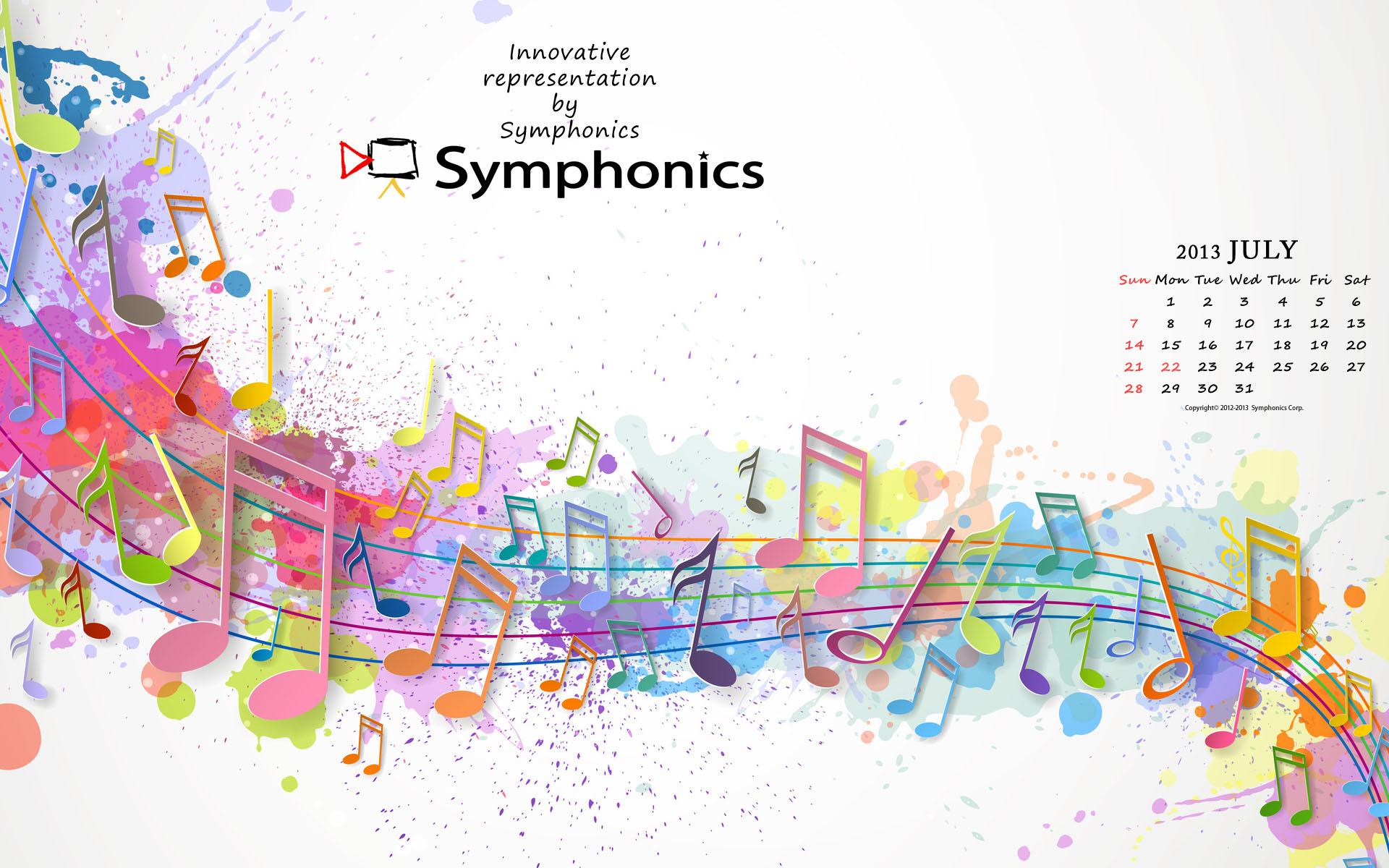Symphonics シンフォニクス株式会社 映像制作 技術 オーケストラ コンサートdvd ビデオ撮影 7月のsymphonics壁紙